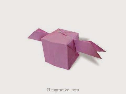 Cách gấp, xếp hộp có cánh bay bằng giấy origami - Video hướng dẫn xếp hình - How to make a Balloon with Wings