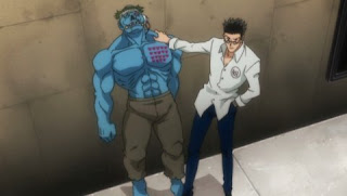 hunter x hunter 2011 episode 10, leorio and mijitani