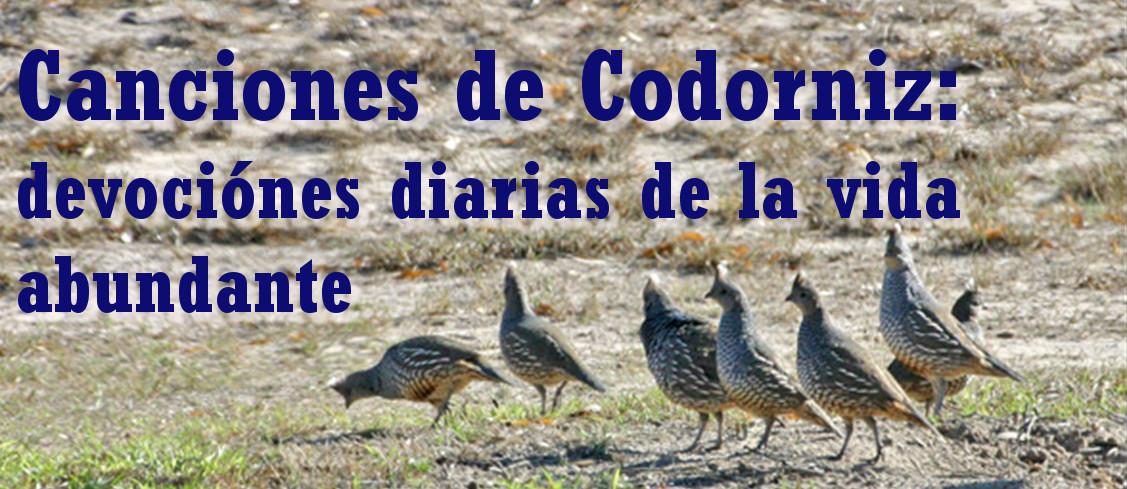 Canciones de Codorniz: devociónes de la vida abundante