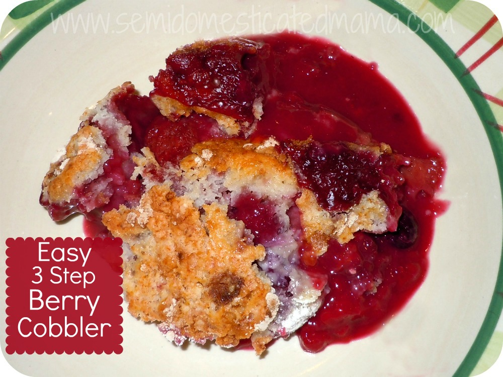 Cobbler With Cake Mix And Frozen Fruit