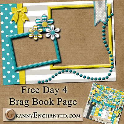 Sunny Kit 50 Free Digital Scrapbook Brag Book Page 4