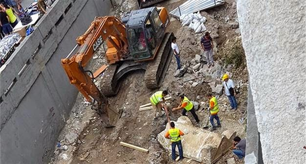 Construction work damages ancient tombs in Istanbul