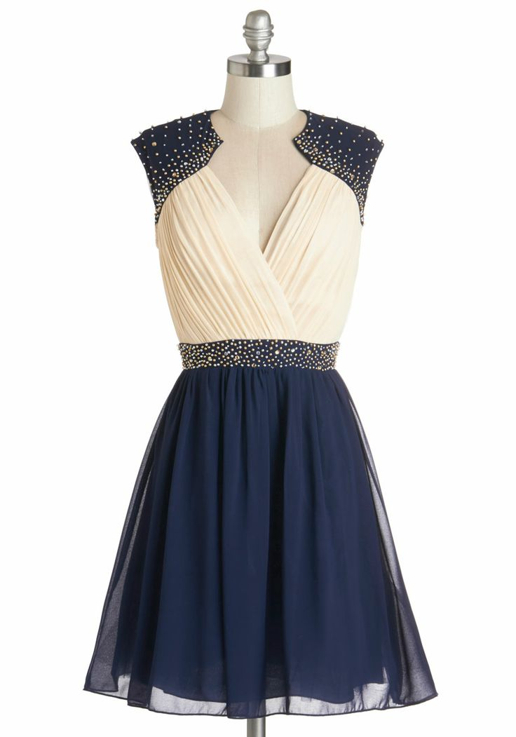 Beautiful Two Tone Party Dress