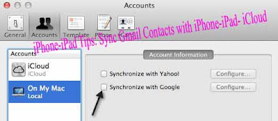iPhone-iPad Tips: Sync Gmail Contacts with iPhone-iPad- iCloud