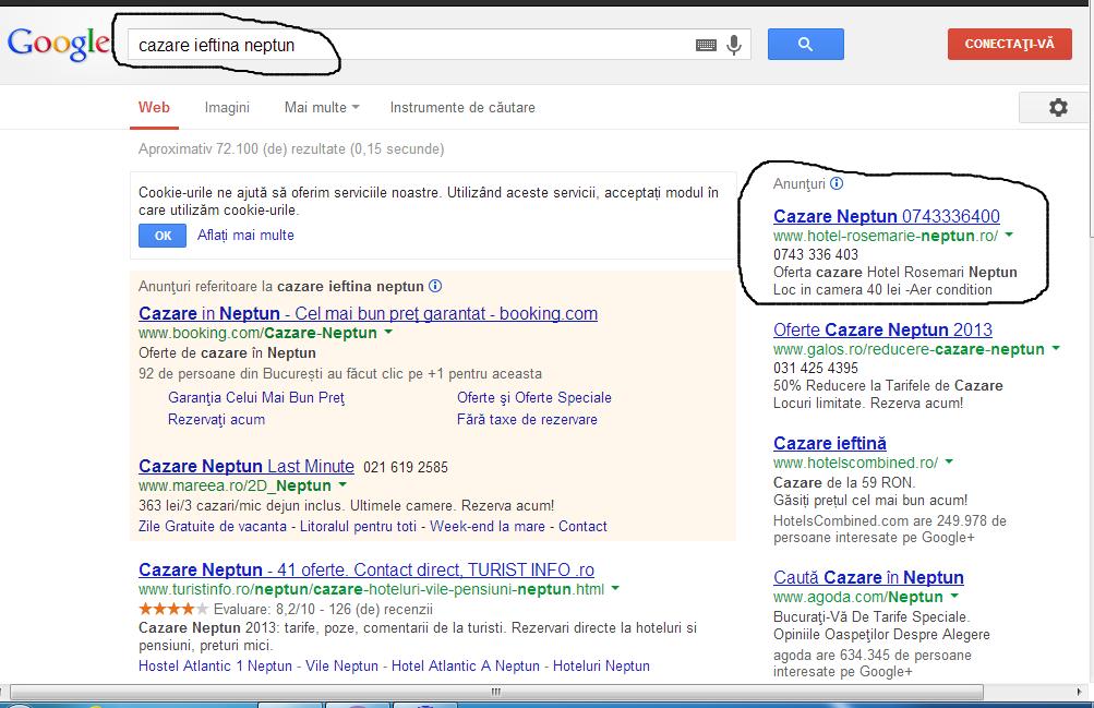 Campanie - reclama - Google - adwords