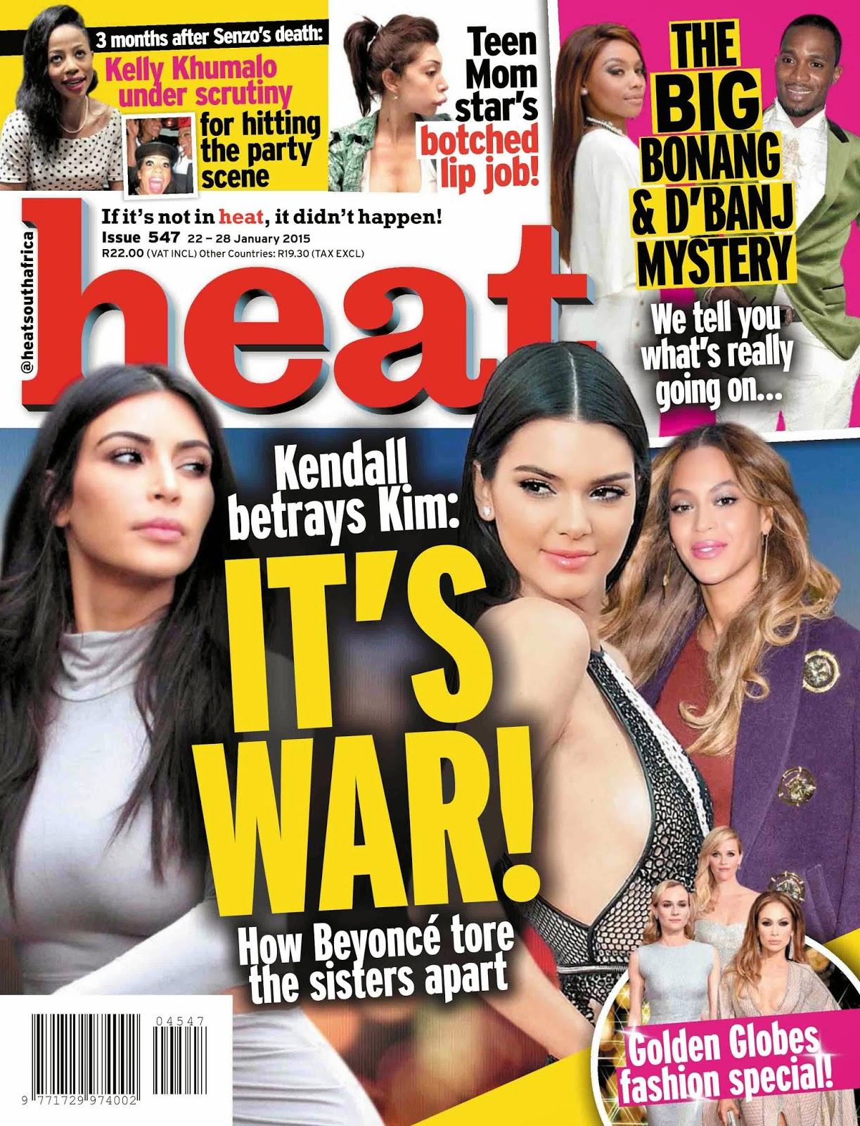 Kim Kardashian and Kendall Jenner - Heat, South Africa, January 2015