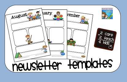 2care2teach4kids: Newsletter Templates