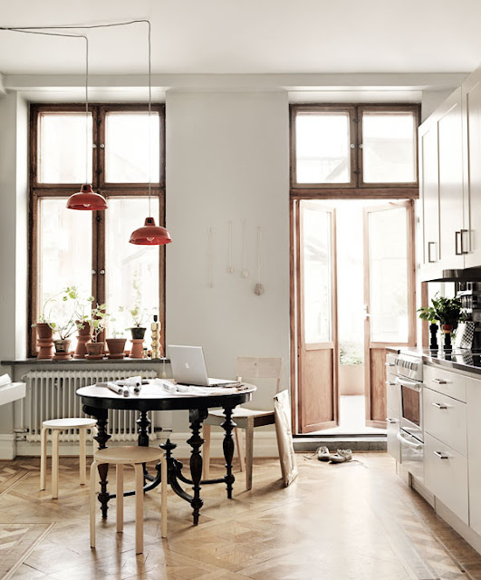 Apartment interior Malmo, as seen in Elle Interior Sweden (via Nest of Pearls)