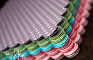 Stack of Scalloped Squared Papers