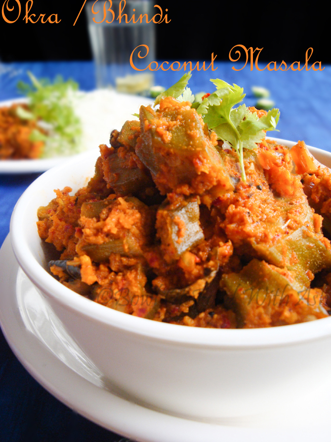 Okra/LadyFinger Coconut Masala Recipe | How To Make Bhindi Sukha Masala