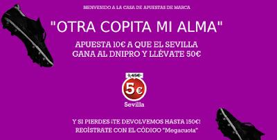marca apuestas megacuota Dnipro vs Sevilla Final Europa League 27 mayo