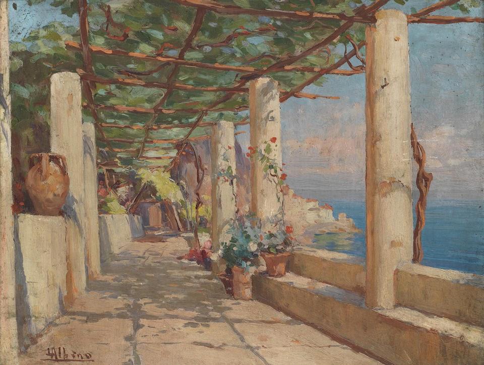 Albino Luca Loggia at the Hotel Cappuccini at Amalfi