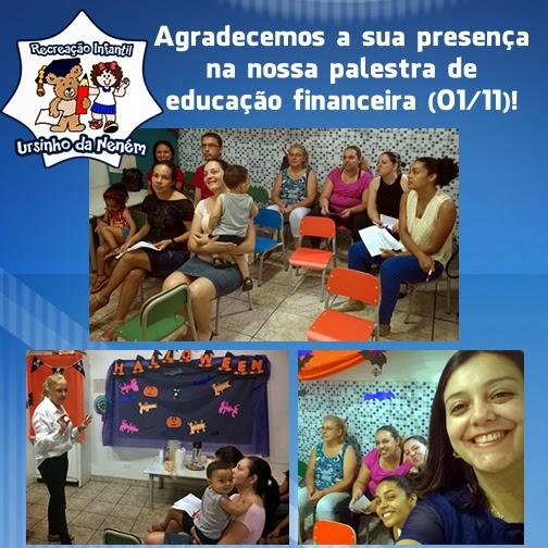 Palestra gratuita de educação financeira para os pais dos alunos