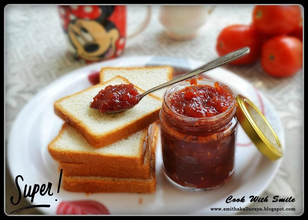 Tomato jam indian recipe,homemade tomato jam,no preservative tomato ...