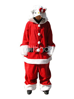 Hello Kitty Santa costume for Christmas