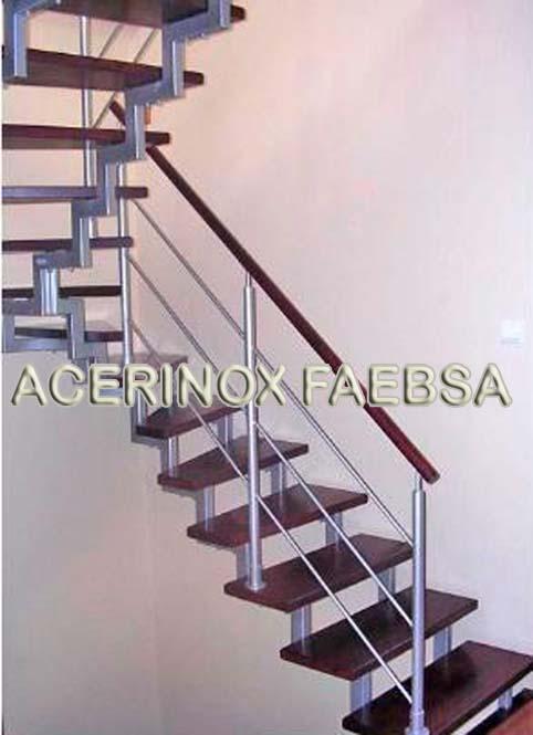 Barandas de acero inoxidable escaleras de acero con pasos - Barandas de escaleras de madera ...