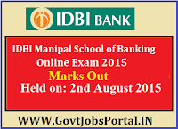 IDBI MANIPAL PO ONLINE EXAM MARKS OUT