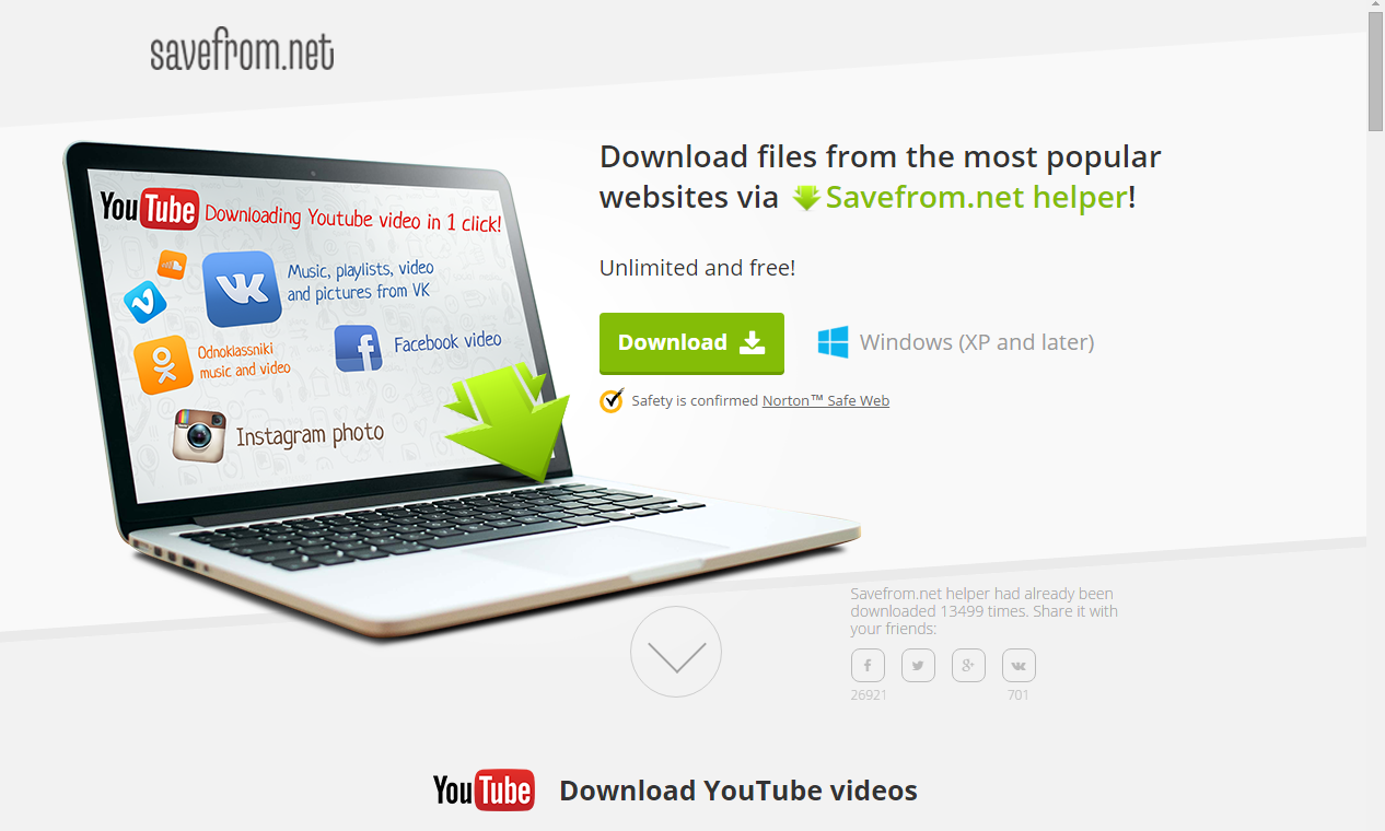 #1 Rated Youtube Video Downloader - Easy 1-Click 256kbps