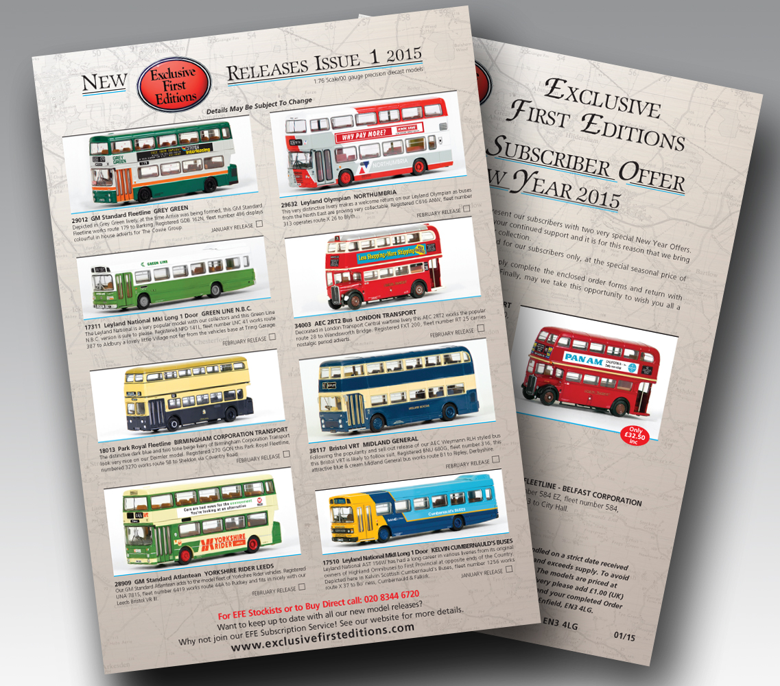 EFE's latest Release Sheet No.01 2015 is available to view on our website now!