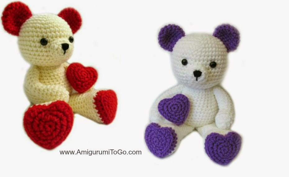 Free Amigurumi Patterns Horse : 2000 Free Amigurumi Patterns: Bears with Heart Feet for ...