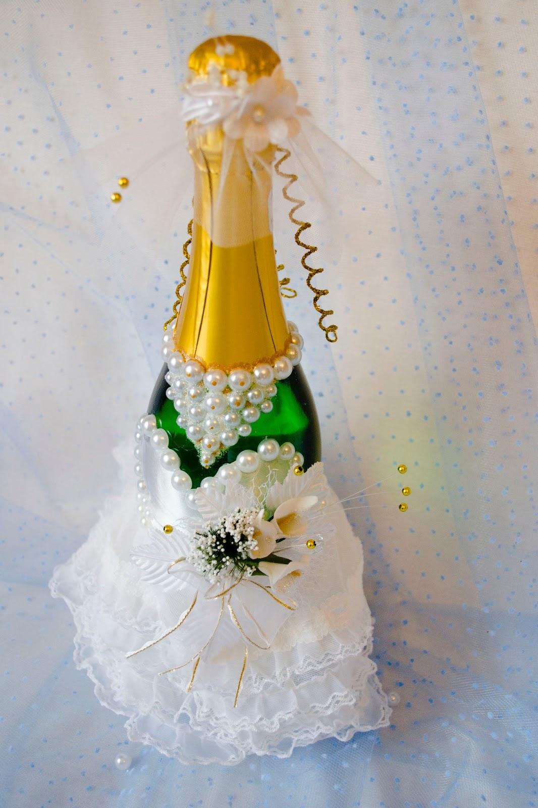 Шампанское жених и невеста на свадьбу своими руками (мастер) 71