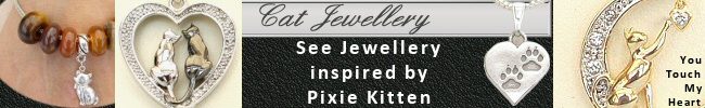Cat Necklaces and Bracelets by Silver Animal Jewellery