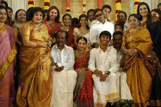 Wedding Pictures Wedding Photos Actor Dhanush Aishwarya Wedding Photos