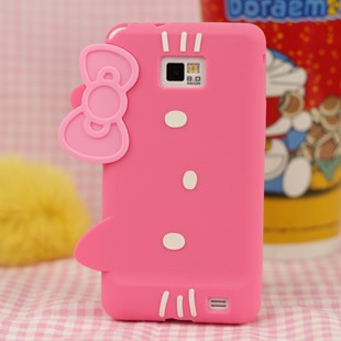 iphone 5 case: Hello Kitty Silicone Case for Samsung Galaxy S II