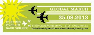 25. August 2013: weltweiter Protestmarsch gegen Chemtrails und Geo-Engineering