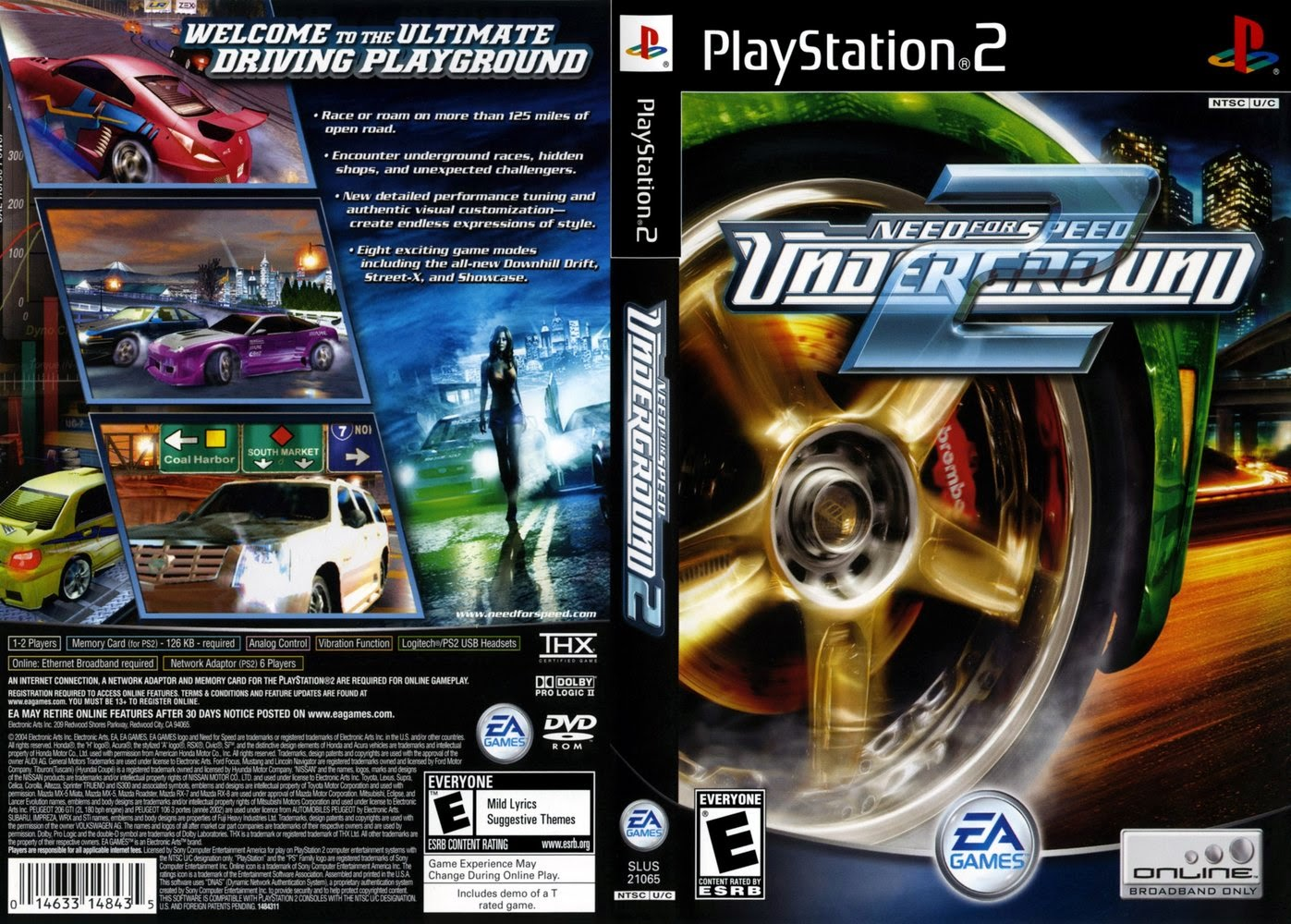 Need For Speed Underground 2 - Playstation 2 - Ultra Capas Ps2 Need For Speed