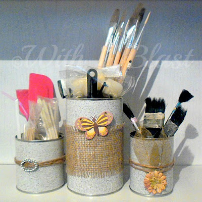 Storage Containers ~ Recycle old cans and cardboard boxes and make these lovely Containers !  #Recycling #Storage #Organizing