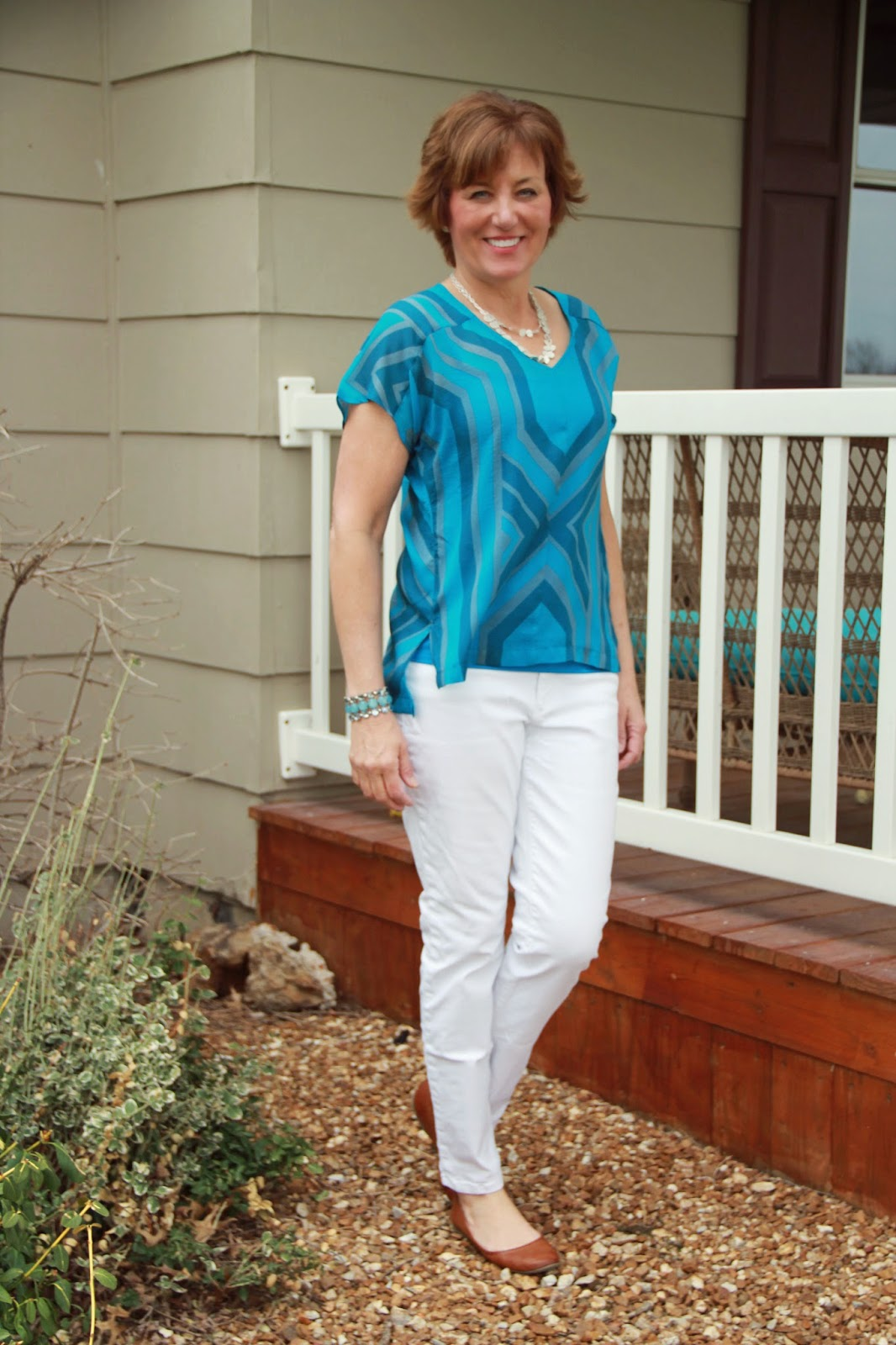 Mood Fabrics' silk chiffon made into Sutton Blouse
