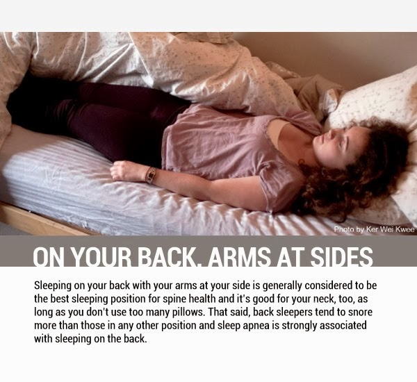 On your Back, Arms at Side - 8 Sleeping Positions and Their Effects On Health
