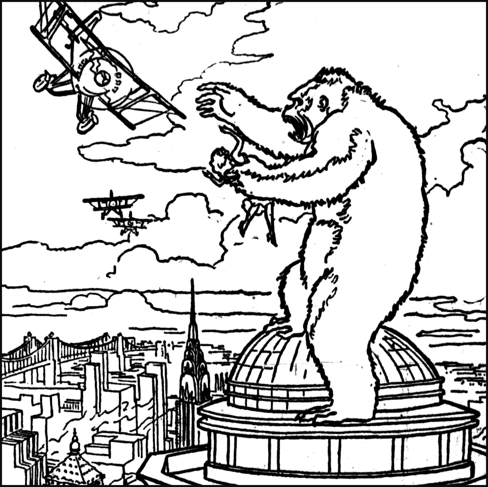 The Morgue KING KONG Coloring Contest 1933