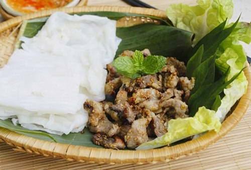 Vietnamese Food Culture - Bánh ướt thịt nướng