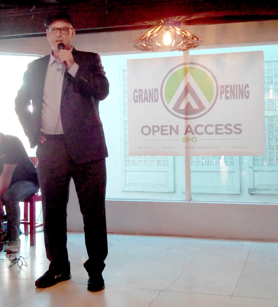 Open Access BPO CEO, Ben Davidowitz  at Davao Office launching