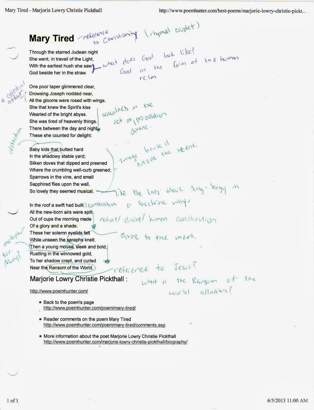 20 lines great poems to analyze third