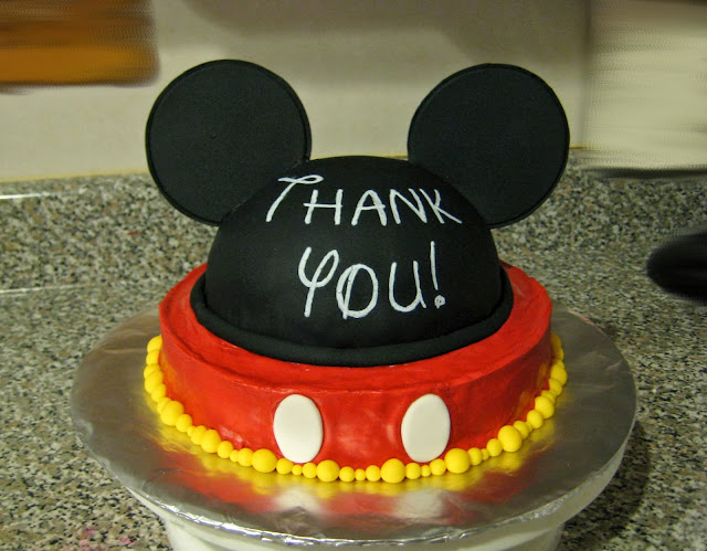 Mickey Mouse Ears Teacher Appreciation Cake 1