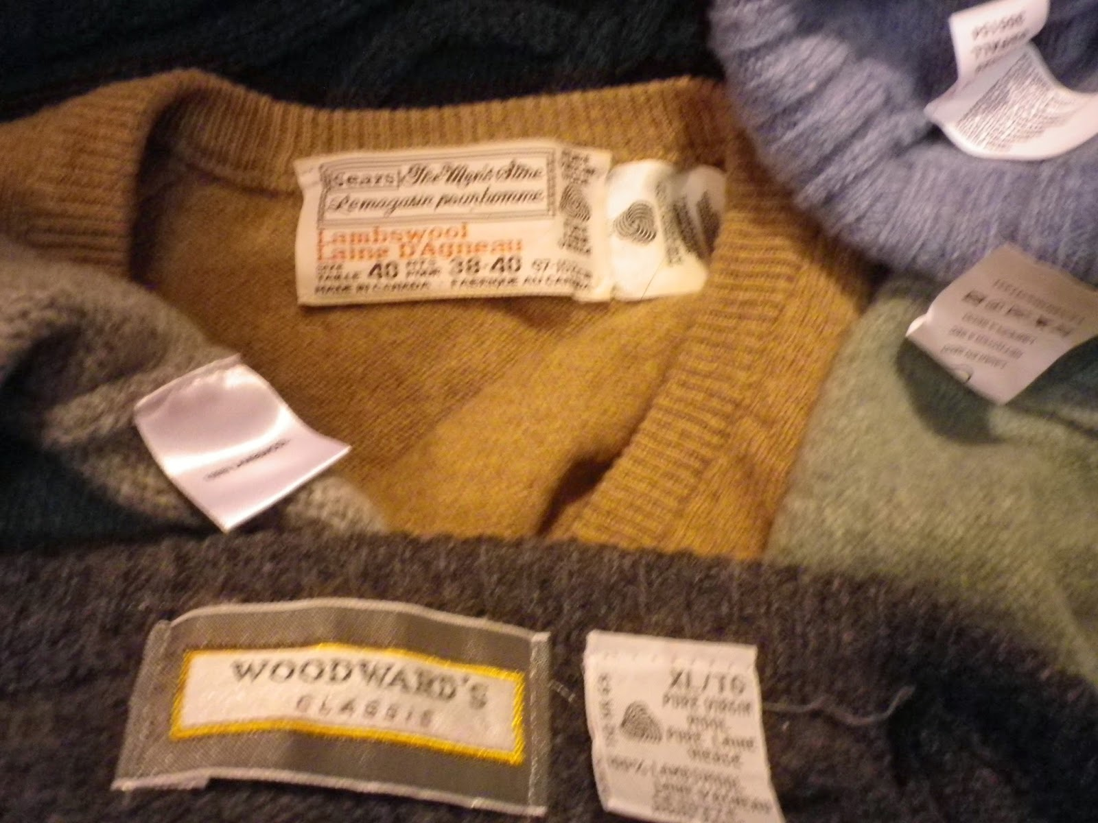 Wool Sweaters - Checking the tags - Crescent Moon Collective
