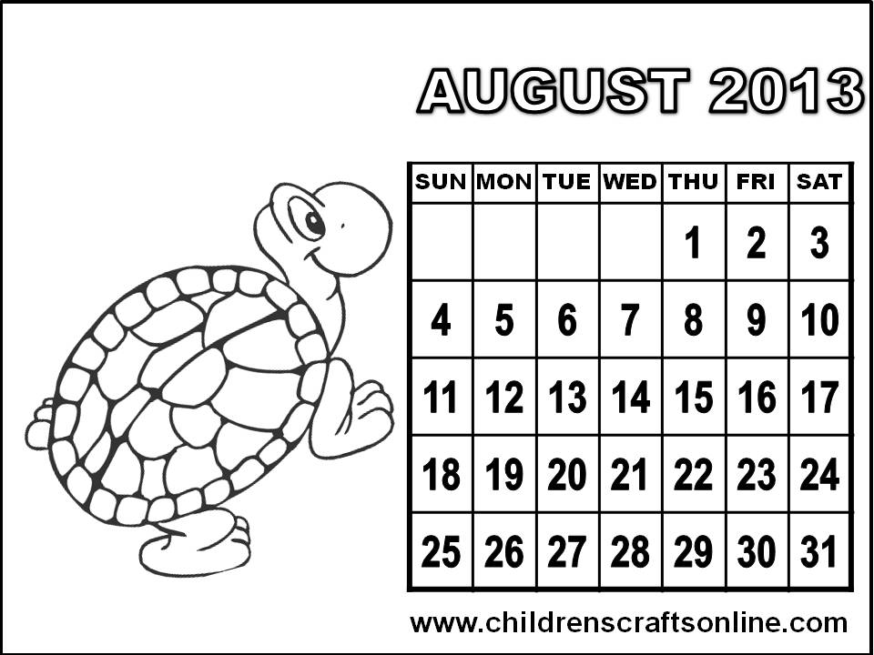 Blank Calendar Coloring Pages Coloring Pages