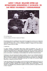 LENIN Y STALIN: RELACIN ENTRE LAS REVOLUCIONES DEMOCRTICA Y SOCIALISTA