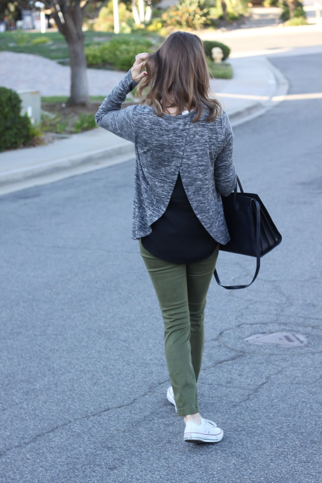 fall outfit olive