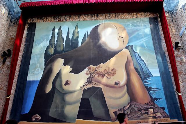 Retrato Abraham Lincoln en el Teatro Museo de Salvador Dalí