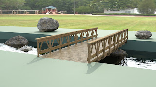 Preview wooden bridge redered with mentalray