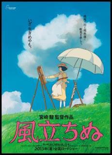 Póster original de The wind rises (2013), de Hayao Miyazaki
