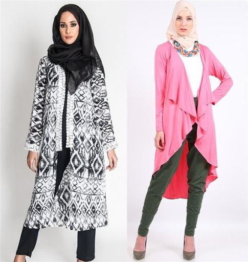 Cardigan Panjang Wanita Muslimah Model Terbaru