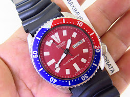 SEIKO DIVER 6309 7290 RED DIAL PEPSI BEZEL - AUTOMATIC