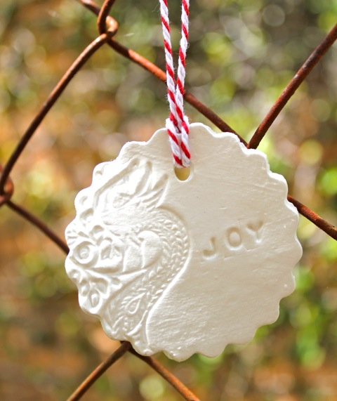 Christmas Decorations Made From Clay : Thom haus handmade simple to make pressed clay christmas