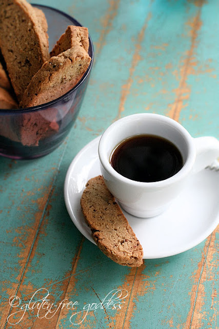 Vegan and gluten free anise biscotti