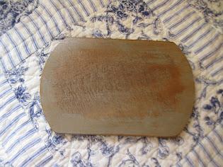 small cutting board slate milk paint